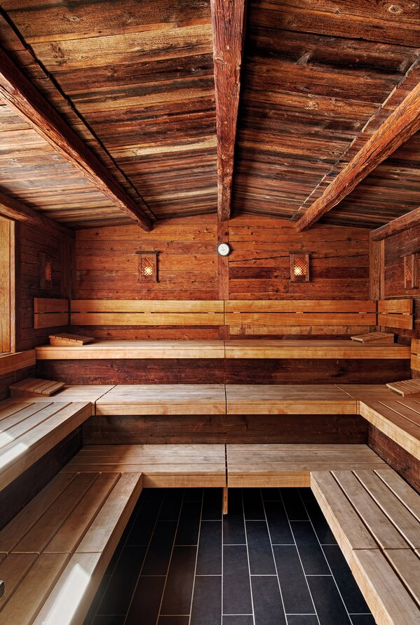 Traditionelle Holzsauna | Best Alpine Wellnesshotel Alpenpalace, Südtirol